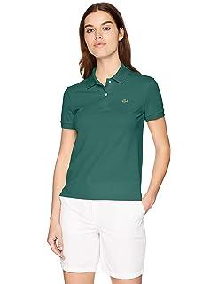 1dd93725a846 Lacoste Women s Stretch Cotton Short Sleeve Mini Piqué Polo Dress at ...