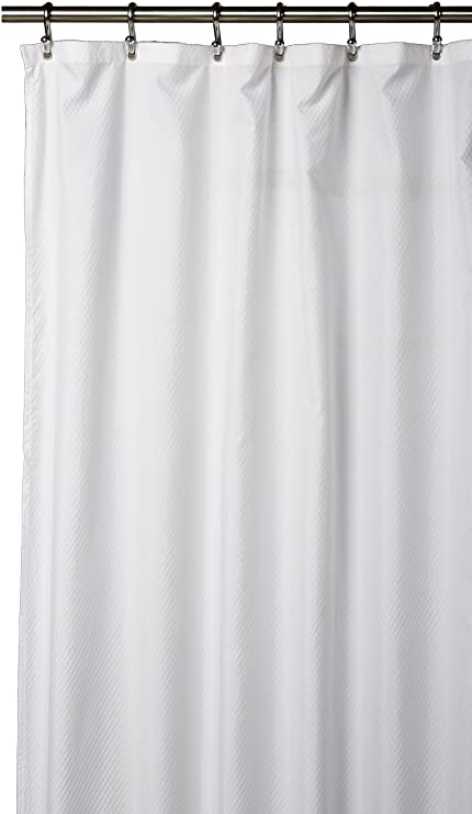Splash Home 85ELLAS FPWHTSPL Ella Shower Curtain Liner