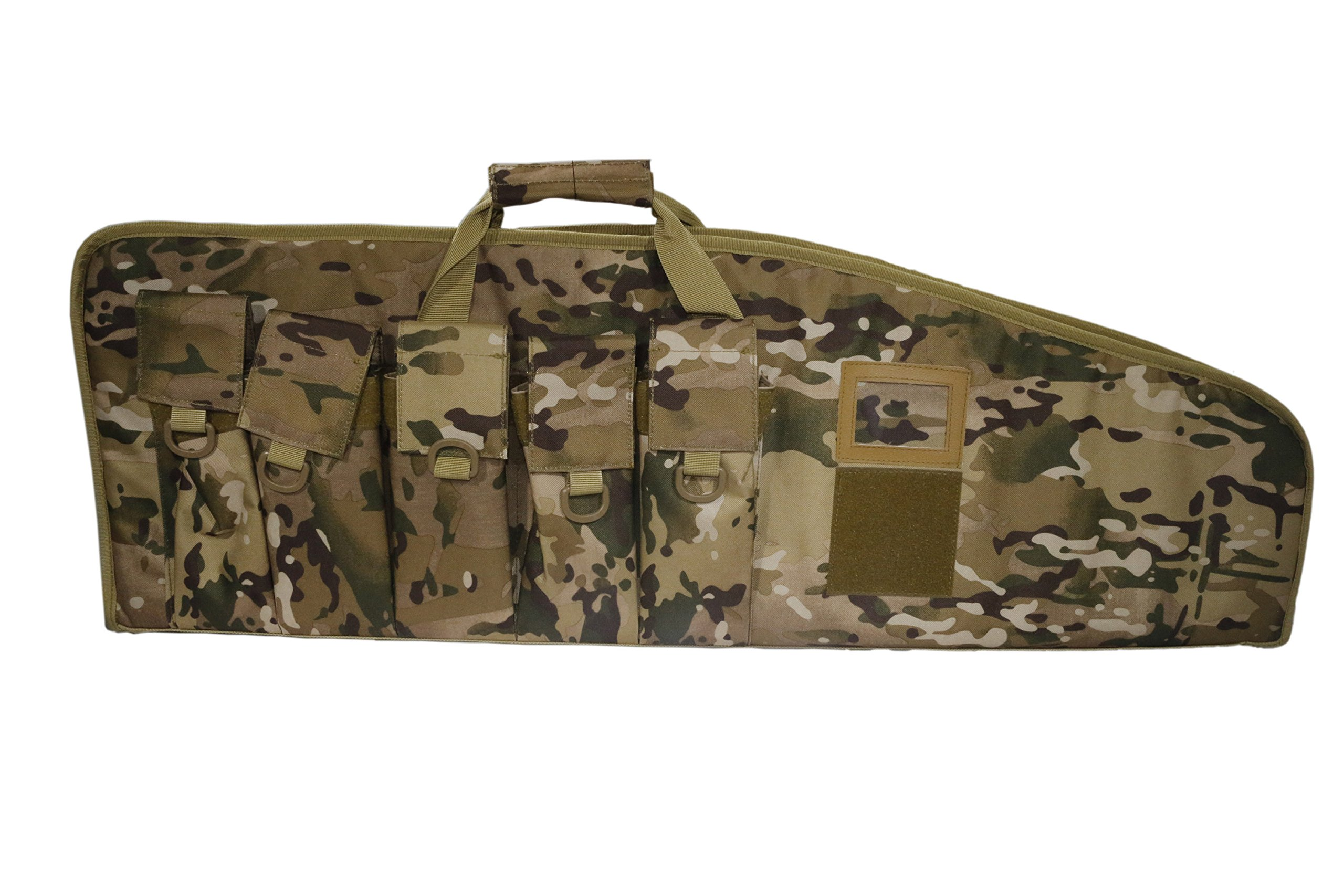 ARMYCAMOUSA Rifle Bag Outdoor Tactical Carbine Cases Water dust Resistant Long Gun Case Bag with Five Magazine Pouches for Hunting Shooting Range Sports Storage and Transport (42'' Multicam) by ARMYCAMOUSA