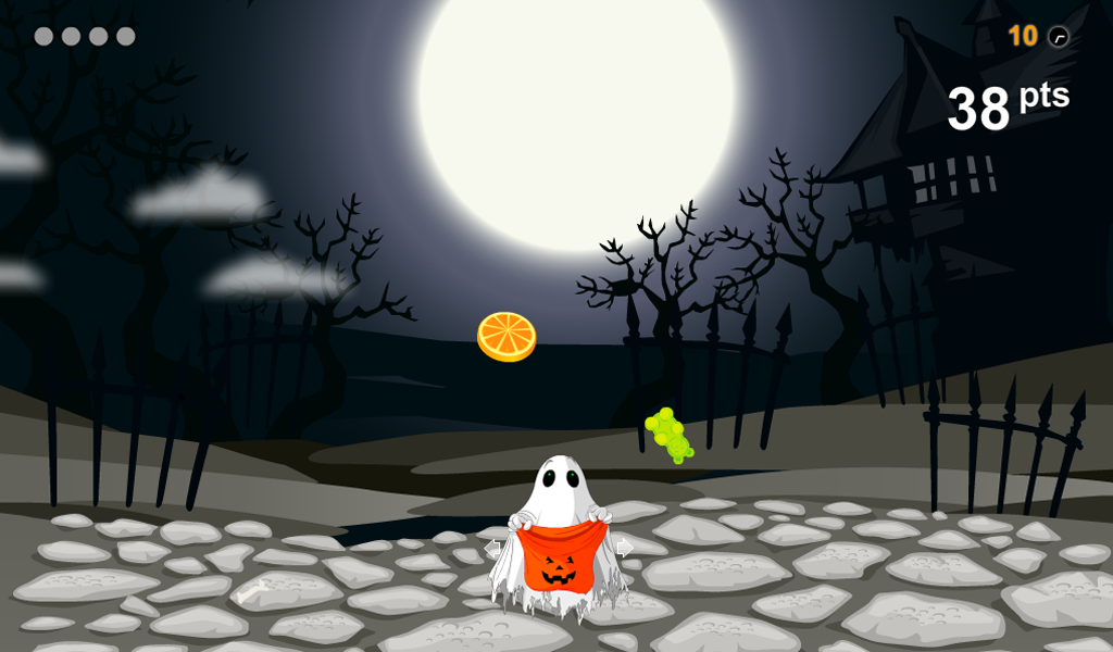 Trick or Treat Candy Drop Halloween Kids App Tilt Game(Kindle Tablet Edition)