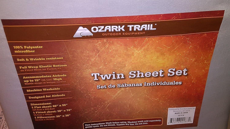 Amazon.com: Ozark Trail Twin Microfiber 3 pc. Sheet Set: Home & Kitchen