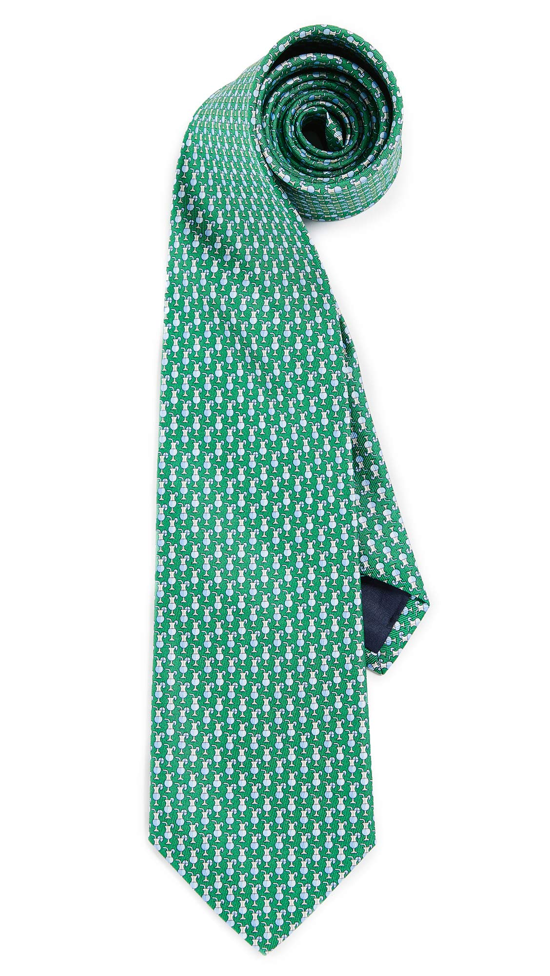 Salvatore Ferragamo Men's Drink Print Tie, Green, One Size