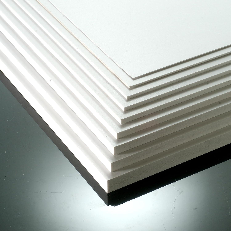 10mm White Matt Foamex Foam PVC Sheet 210mm x 148mm // A5