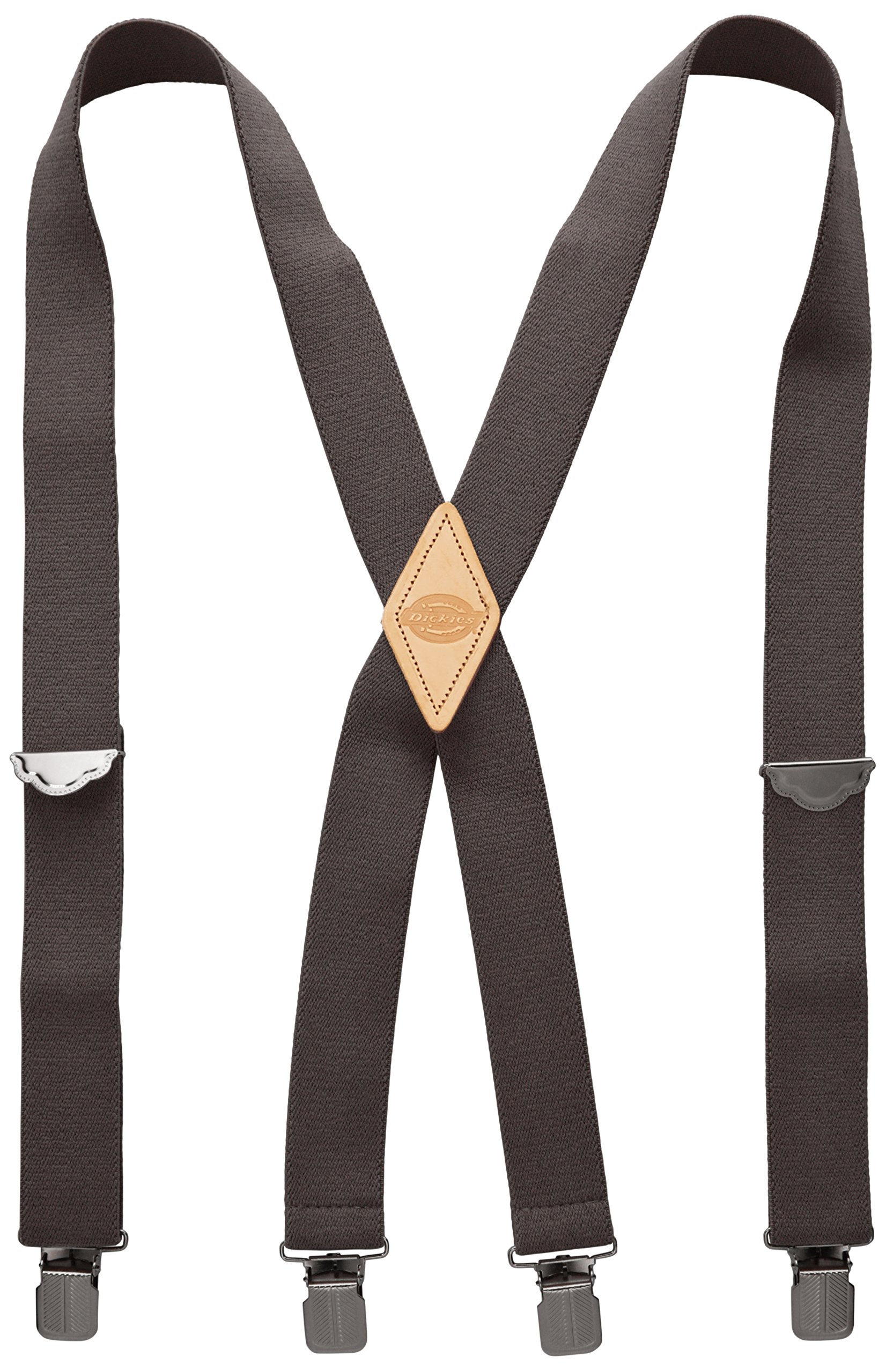 Dickies Men's 1-1/2 Solid Straight Clip Suspender,Charcoal,One Size