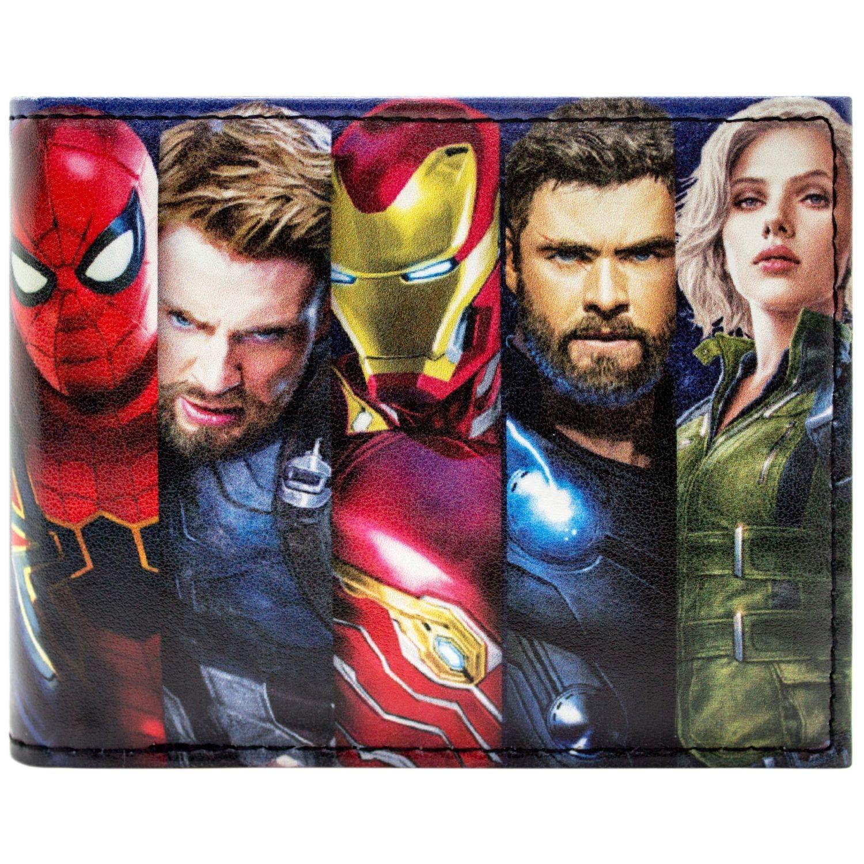 Cartera de Marvel Avengers Infinity War Hé roes Negro 31471