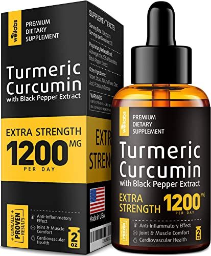 Premium Turmeric Curcumin with BioPerine – 1200mg PER Day – Highest Potency BIOAvailability – Turmeric Curcumin Supplement for Pain Relief Joint Support – Anti Inflammatory Effect – No-GMO