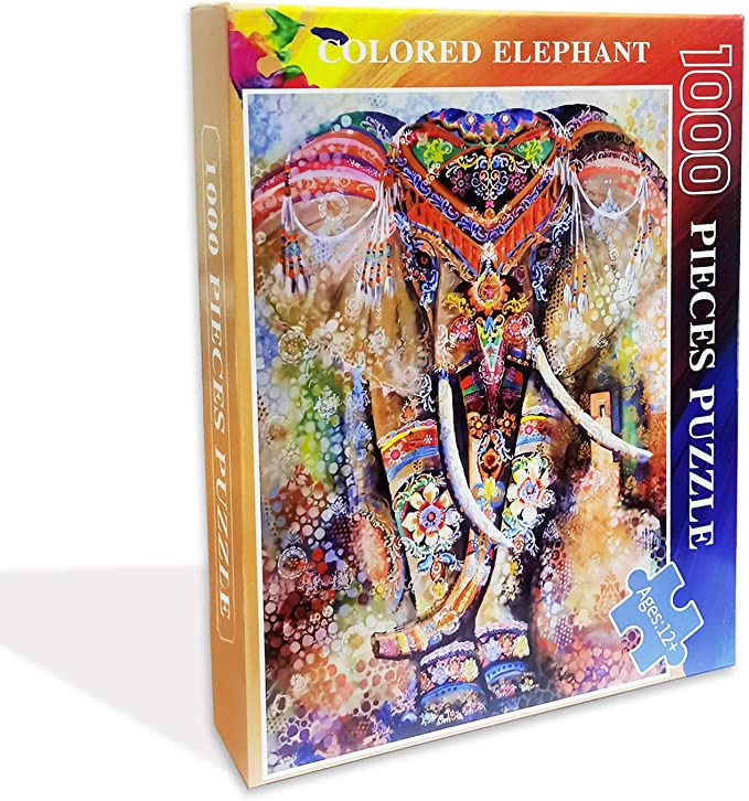 Classic Jigsaw Puzzles 1000 Pieces Adults Puzzles Children Puzzles Colored Elephant Diy Wooden Puzzle Modern Home Decor Wall Art Unique Gift 75x50 Cm Jigsaw Puzzles Amazon Canada