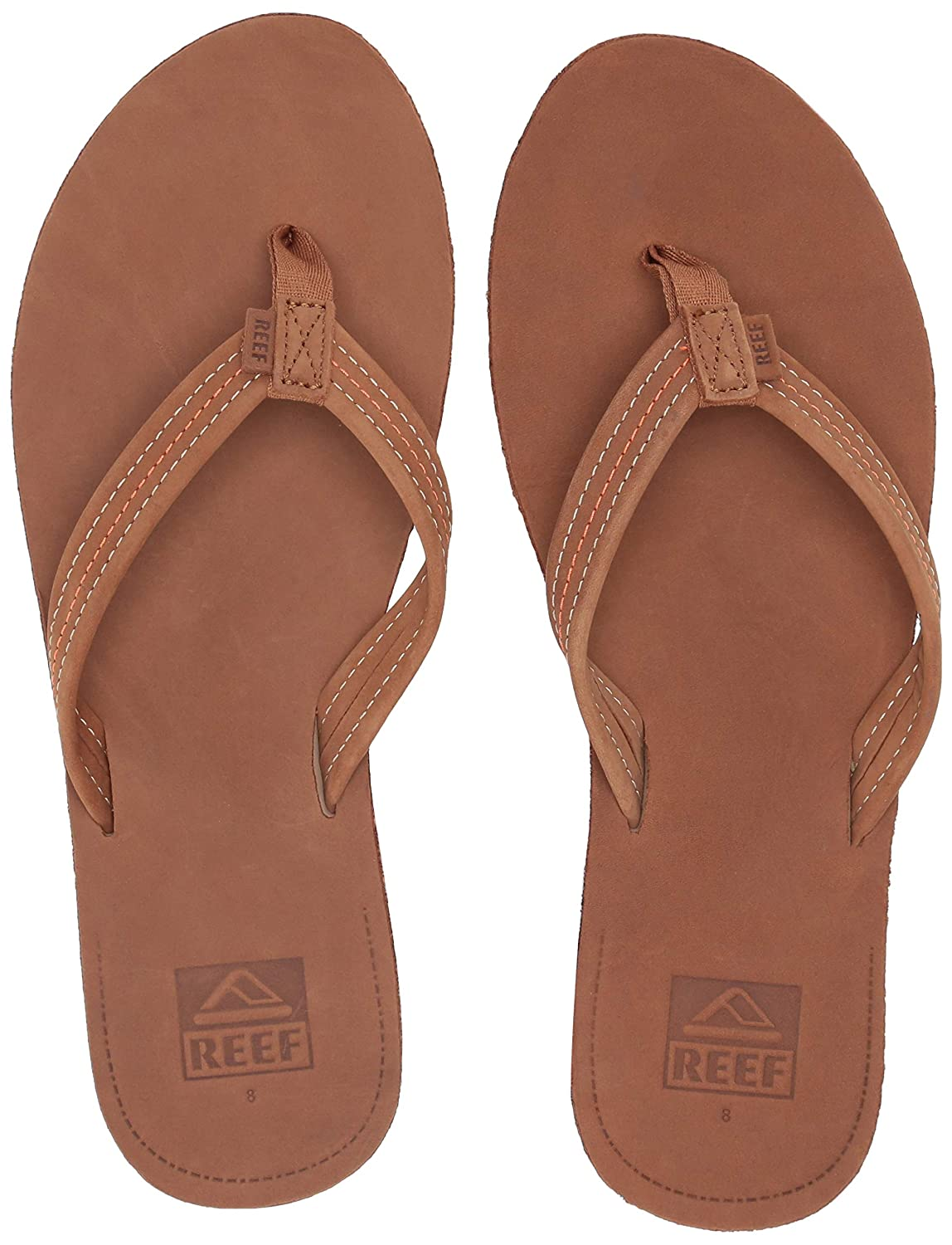 fac67a2579c06 Reef Voyage Lite Womens Leather Flip Flops