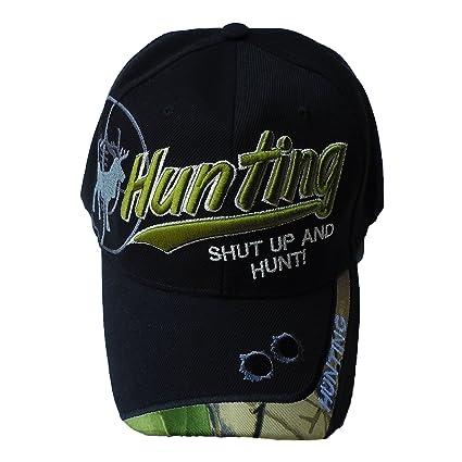 bddaa158bce Black Duck Deals Hunting Shut Up and Hunt Buck In Sight Baseball Hat (BLACK)