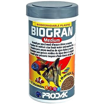 Prodac Biogran Medium - Granulos Para Peces Medios De Agua Dulce Y Marina 250ml 120gr: Amazon.es: Productos para mascotas