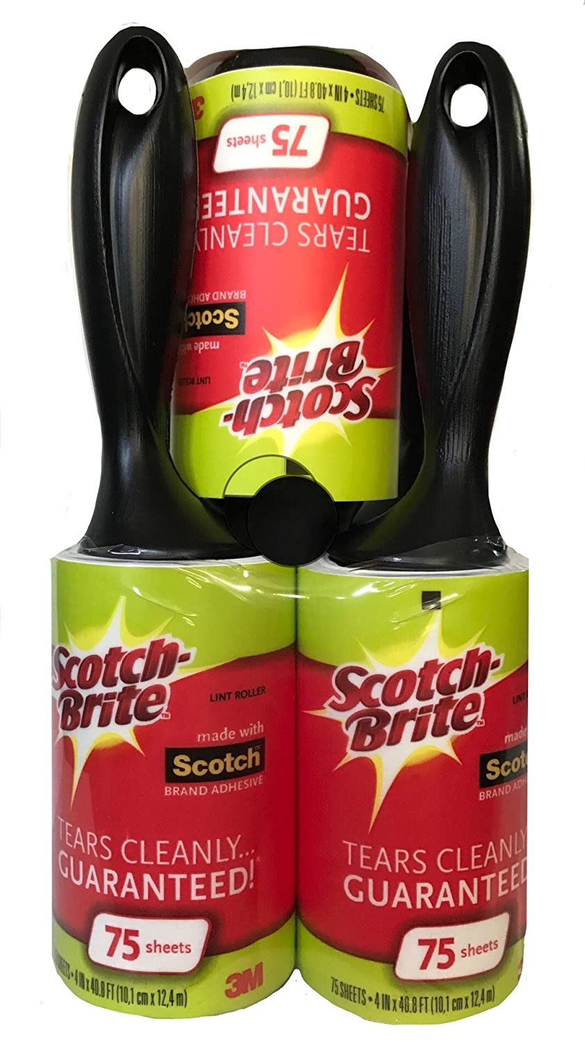 Scotch Brite Lint Roller, Value Pack of 75 Sheets, 375 Total Sheets
