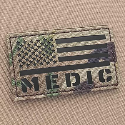 IR Multicam Medic Med 1x3.5 EMS Paramedic Tactical Morale Hook-and-Loop Patch