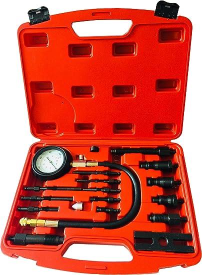 MengYoo 16PCS Professional Diesel Cylinder Compression Tester Tool KitFull Range Diesel Cylinder Test Gauge Pressure Gauge Tester Kit TU15B at Kapruka Online for specialGifts