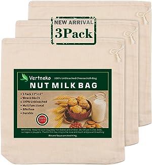 Nut Milk Bag Reusable, 3 Pack 12