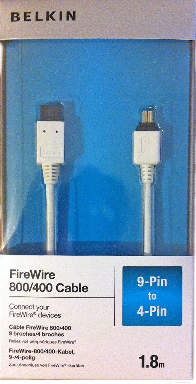 Belkin F3N403CW06-APL 800/400 9 pin / 4 Pin FireWire Data Transfer ...