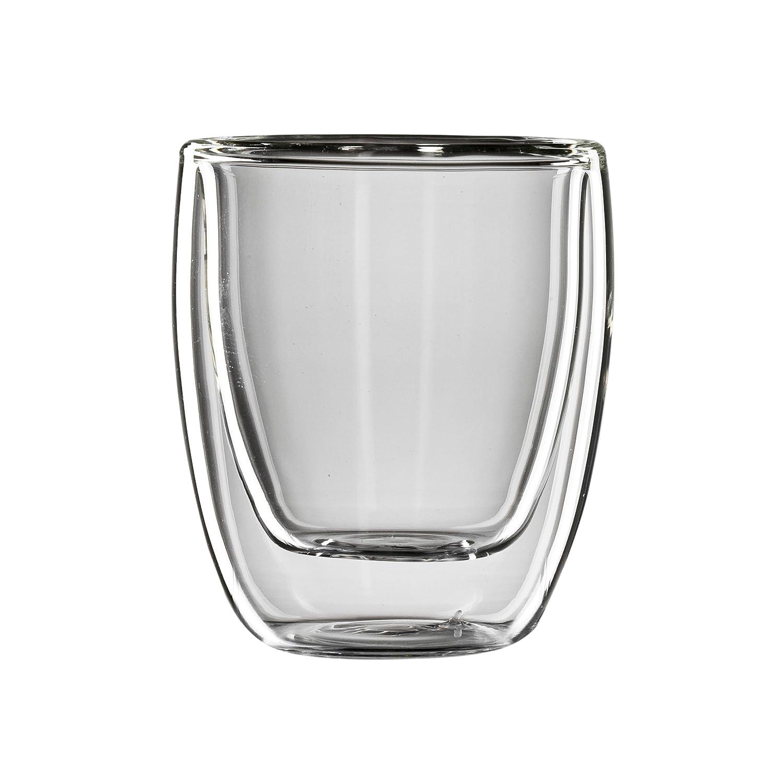 Juego de 2 Vasos t/érmicos de Doble Pared para caf/é Espresso Bloomix C-111-080-G Roma