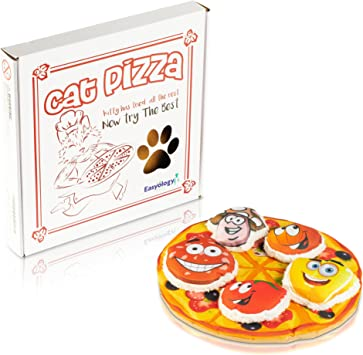 Amazon.com: Easyology Cat Toys Pizza interactiva: el único ...