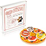 Easyology Cat Toys Interactive Pizza: The ONLY Cat Toy Served in a Pizza Box – Best Cat Toys Fun Cat Teaser - Best Kitten Toys Gifts - Catnip Toys Cat Charmer Cat Toys Cats