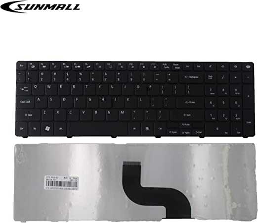 Eathtek Replacement Keyboard for Gateway NV53A NV55C NV59C NV73A NV79C NV50A NV59A NV51B EC58 KB.I170G.111 PK1307C1A22 Series Black US Layout