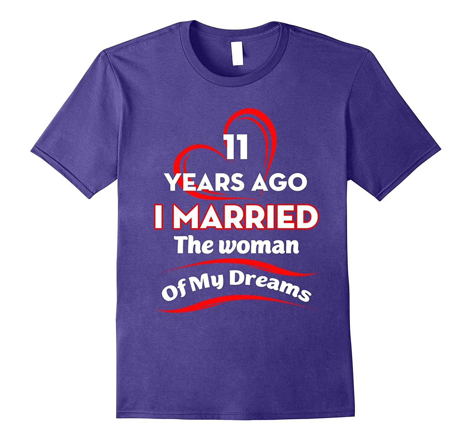 Great Wedding Gift For Husband: Great T-Shirt For Husband. Gift For 11th Wedding