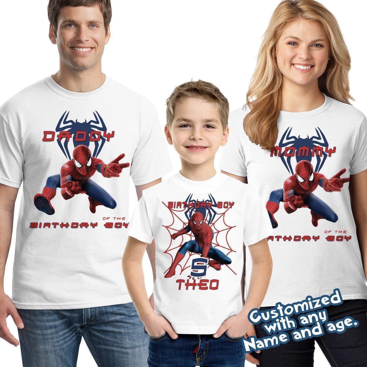 Personalizes Birthday Age Cute Iron Man Comics Boys Girls Kids T Shirt Unisex