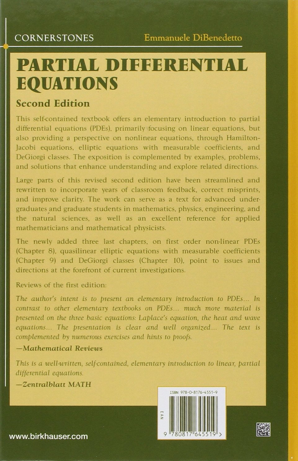 Buy Partial Differential Equations: Second Edition (Cornerstones