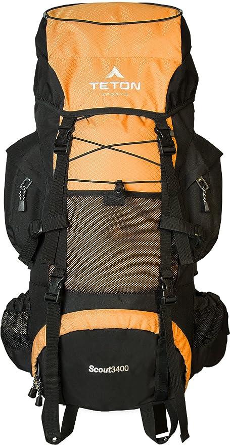 ba815a0b9 TETON Sports Scout 3400 Mochila con Estructura Interior; Naranja. Pasa el  mouse encima de ...