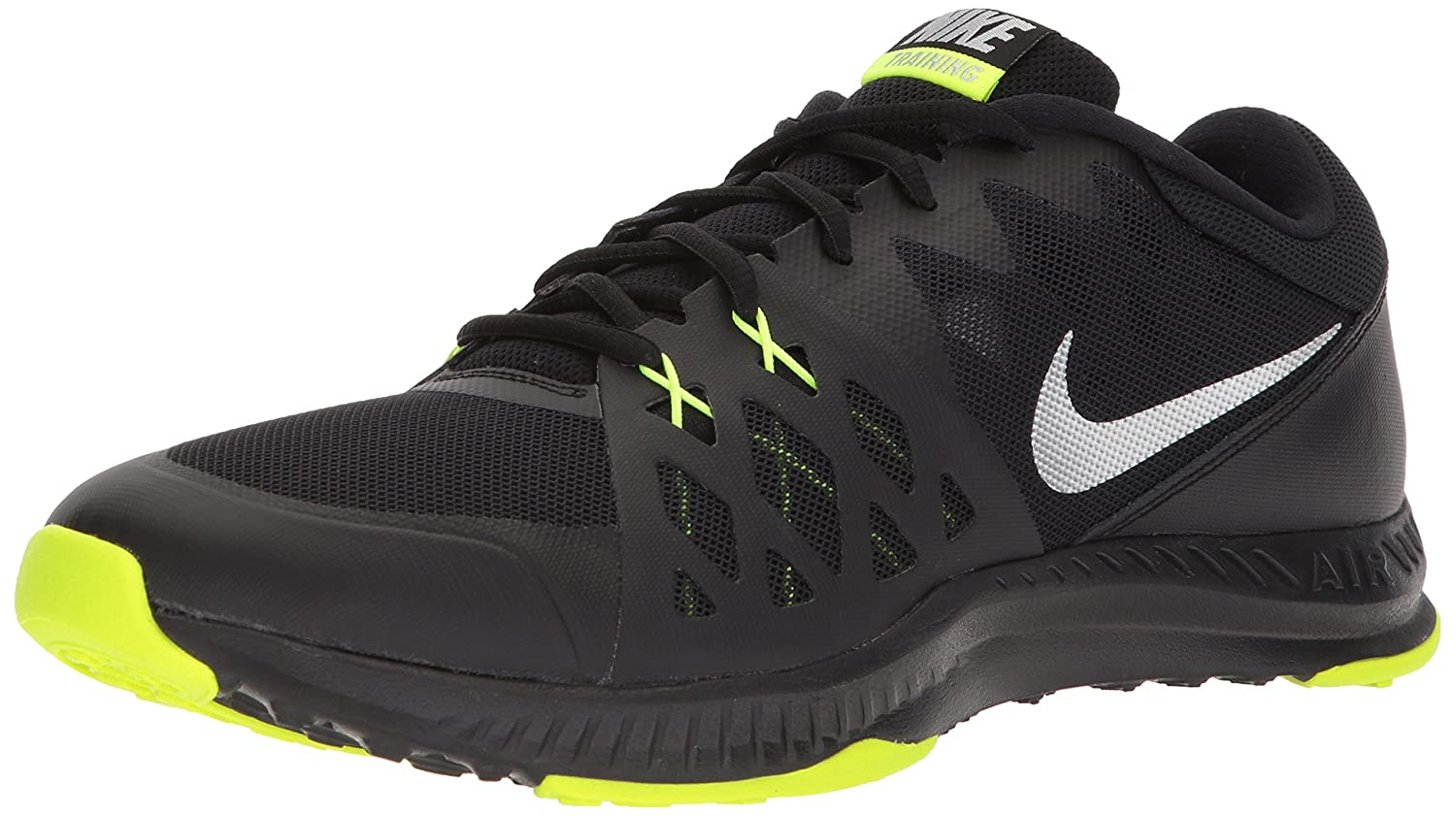 NIKE Men's Air Epic Speed TR II Cross Trainer Shoes B06Y2HXZT9 9.5 D(M) US|Black/Metallic Silver/Volt