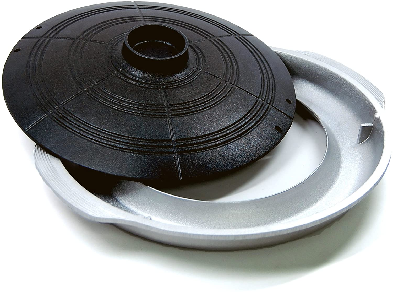 CookKing – Korean Traditional BBQ Grill Pan, Cauldron Lid Shape – Stovetop Nonstick Indoor Outdoor Smokeless BBQ Cast Aluminum Grill Pan