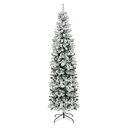 Image Unavailable - Amazon.com: Best Choice Products 7.5ft Snow Flocked Artificial