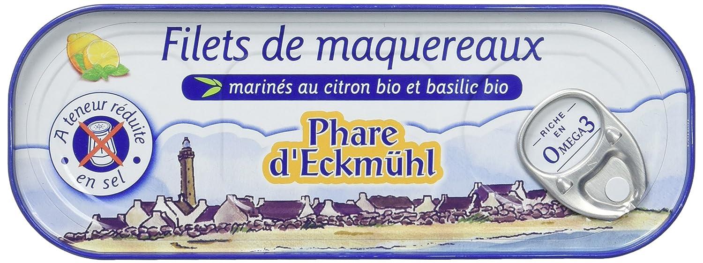 Phare d'Eckmül Maquereaux Filets Hyposel Citron Basilic Bio 130 g