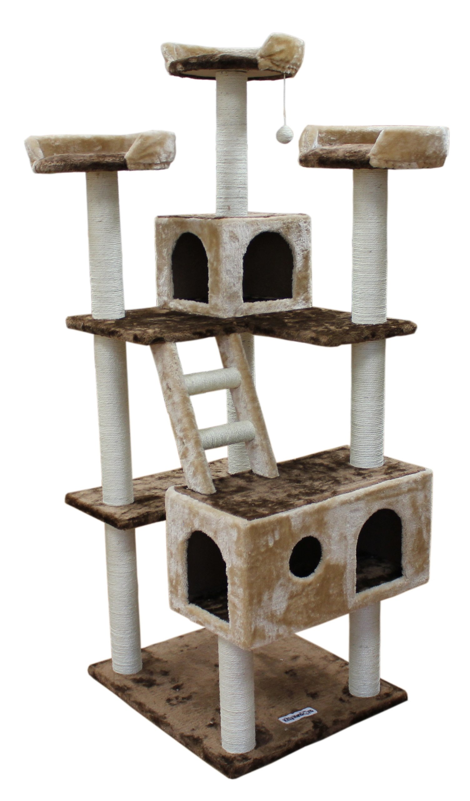 Kitty Mansions Beverly Hills Cat Tree, Brown/Beige