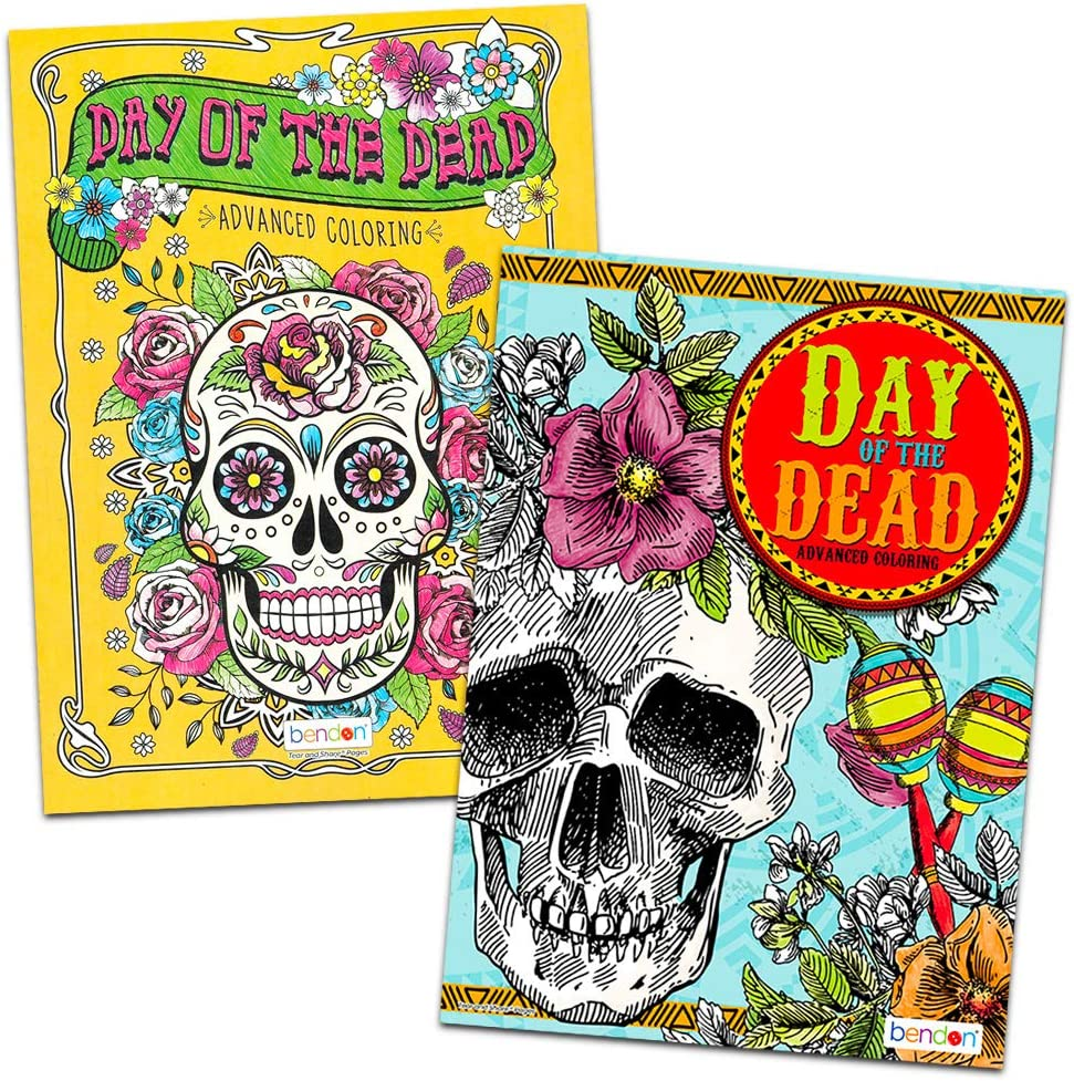 - Amazon.com: Day Of The Dead Advanced Coloring Book For Adults