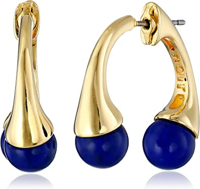nOir Jewelry Sphere Semi-Precious Earrings with Jackets