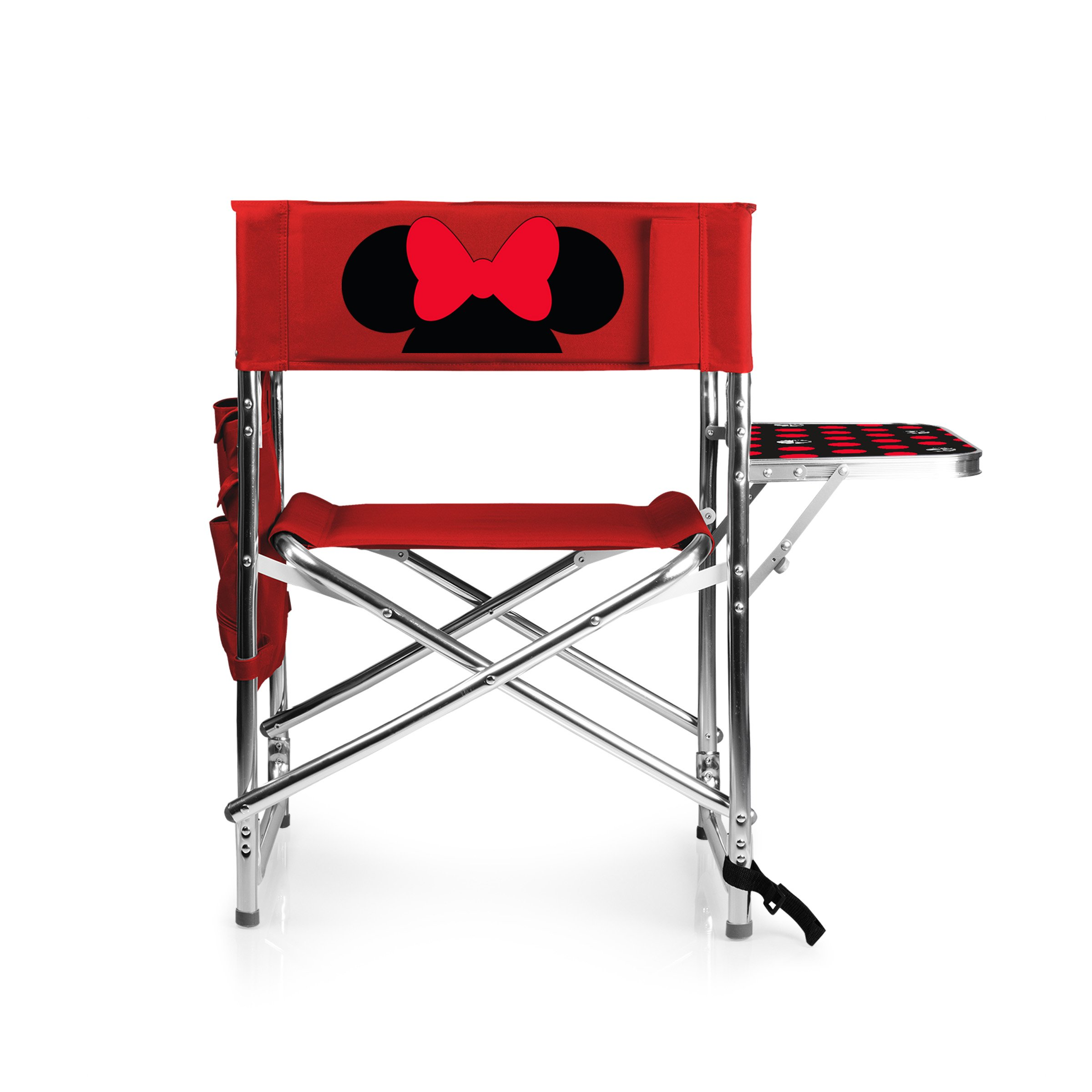 Disney Classics Minnie Mouse Portable Folding Sports Chair, Red