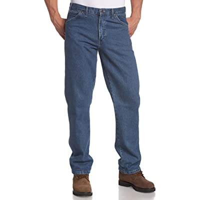 Dickies Men's Regular-Fit Five-Pocket Jean at Men's Clothing store: Work Utility Pants