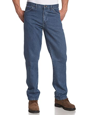 d37aacb4 Amazon.com: Dickies Men's Big/Tall Regular-Fit Five-Pocket Washed Jean:  Clothing