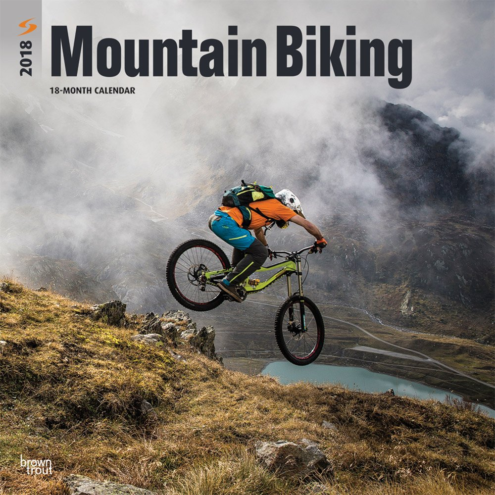 Mountain Biking 2018 12 x 12 Inch Monthly Square Wall Calendar, Extreme Bicycle Sport (Multilingual Edition) by BrownTrout Publishers