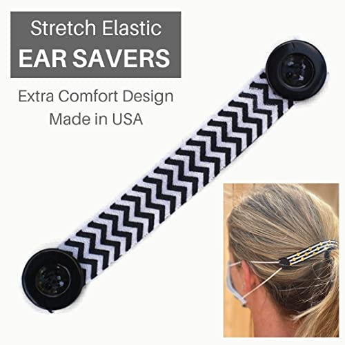 Amazon Com Elastic Ear Saver For Masks With Button Hook For