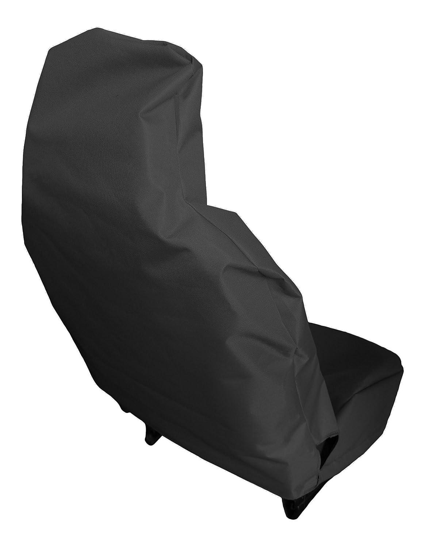 Amazon.es: Fundas de asiento impermeables y resistentes, color negro, asientos delanteros, universales