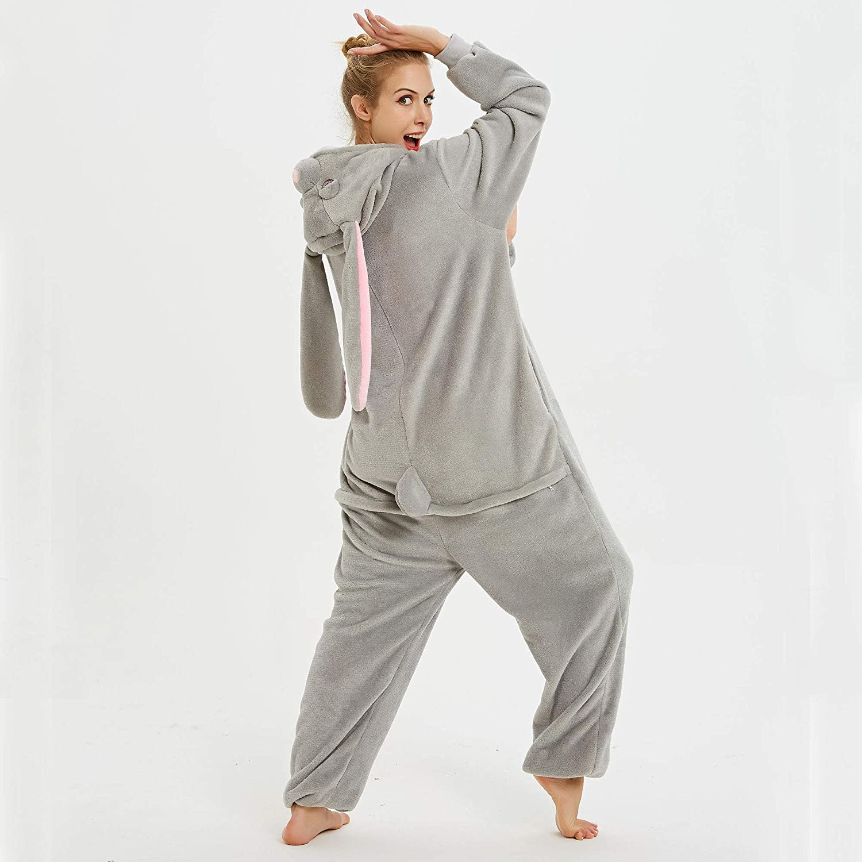 Blau Rosa Einhorn, S CozofLuv Tier Pyjamas Kost/üm Nachtw/äsche Cosplay Kost/üme Einhorn Rentier Pyjamas f/ür Erwachsene Anzug Outfit 148-158cm
