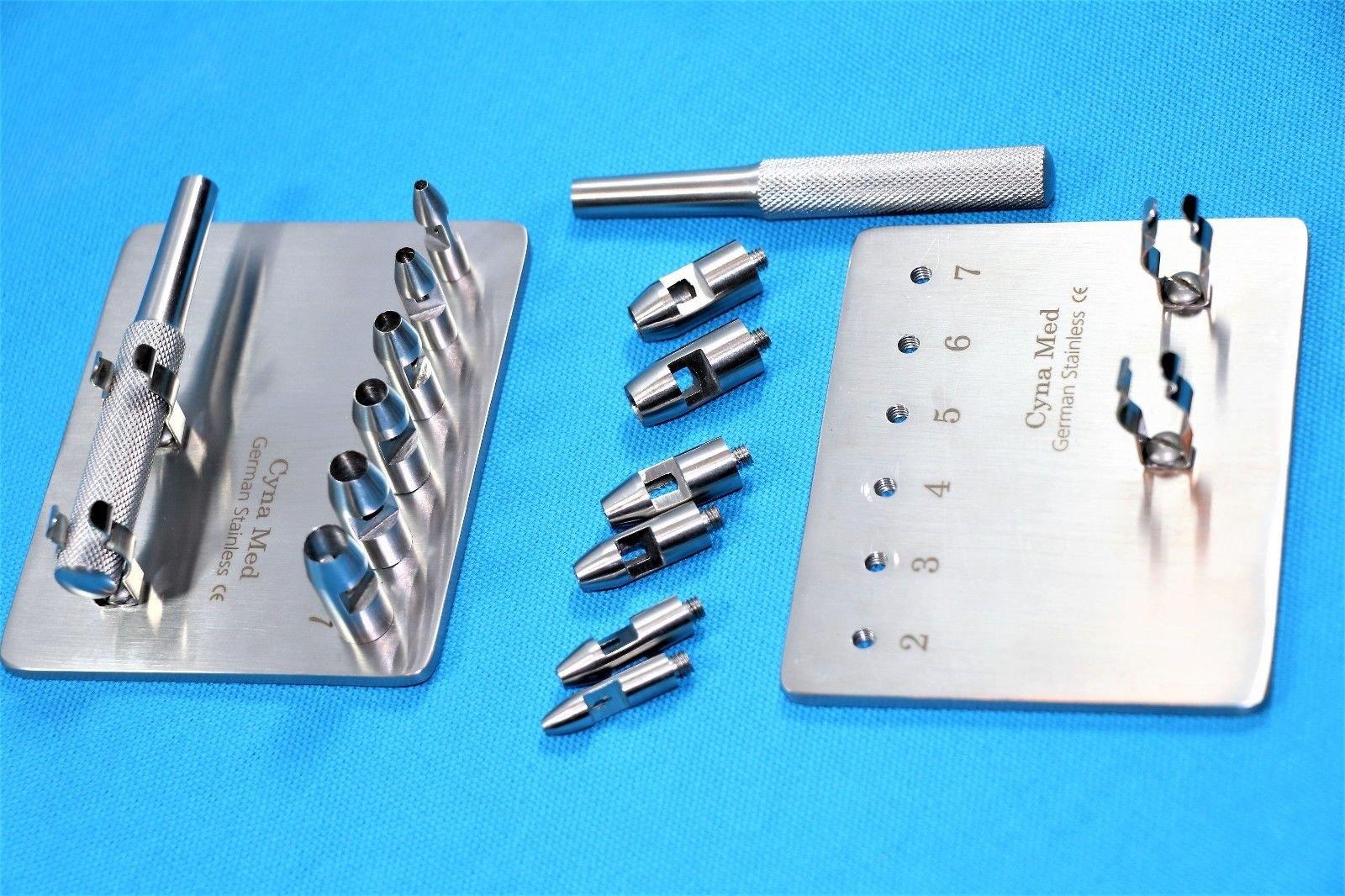 Premium German Keyes Dermal Punch Set of 6pcs 2mm-7mm Dermatology Surgical Instruments (CYNAMED)