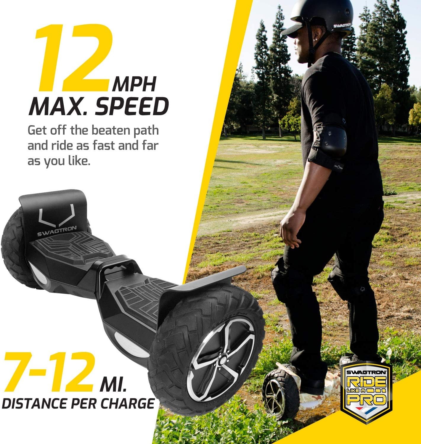Swagtron Swagboard Outlaw T6 Off-Road Hoverboard - 4