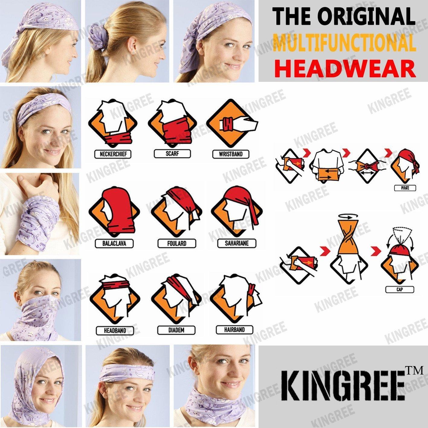 9PCS Outdoor Headscarves Womens and Mens Headband Headwear