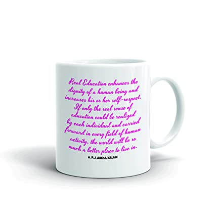 Aqsi Ceramic Coffee Mug Apj Abdul Kalam Motivational Quotes Real