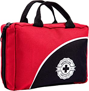 First Aid Kit - 160 Piece - for Car, Travel, Camping, Home, Office, Sports, Survival | Complete Emergency Bag Fully stocked with Medical Supplies
