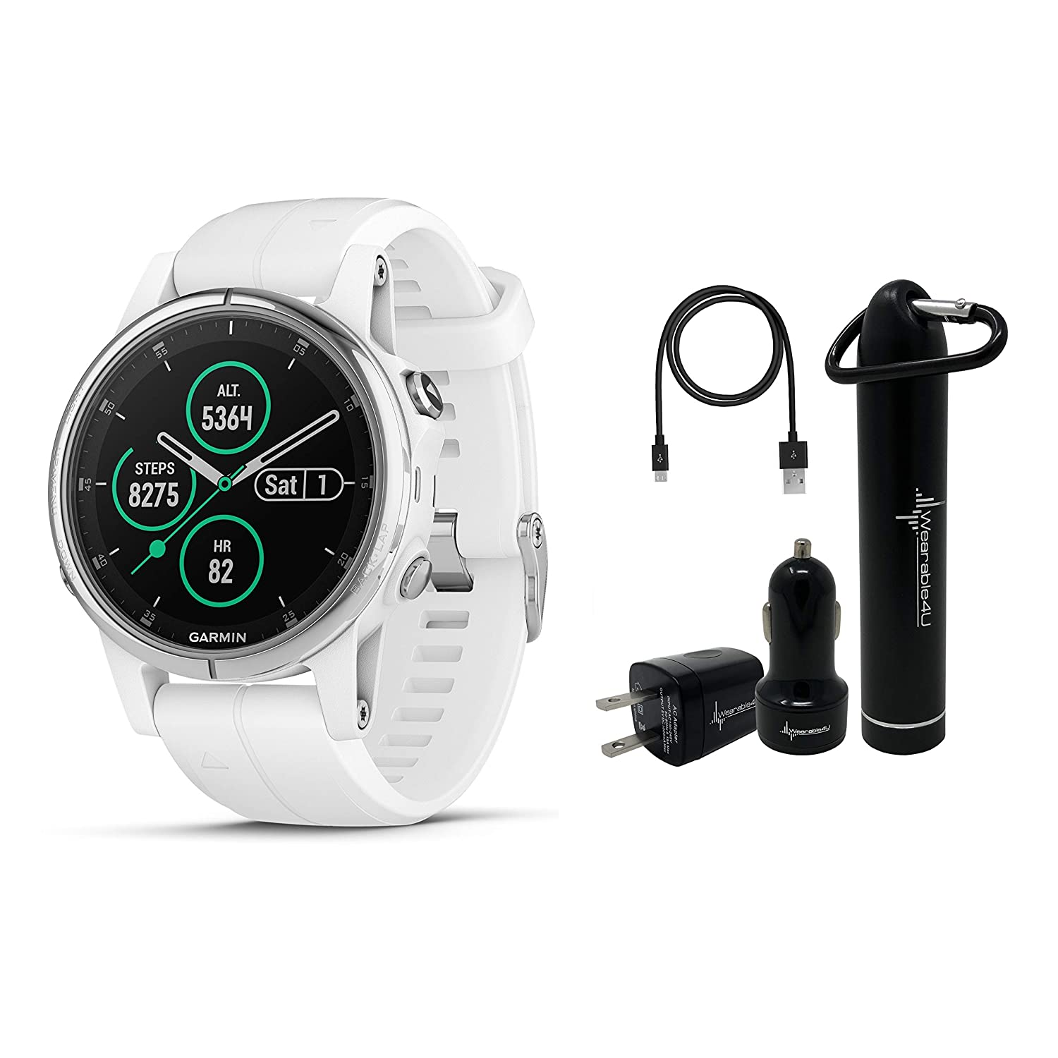 Amazon.com: Garmin Fenix 5S Plus Premium Multisport GPS ...