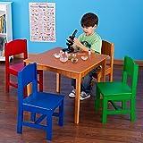 Amazon Com Tot Tutors Kids Wood Table And 4 Chairs Set