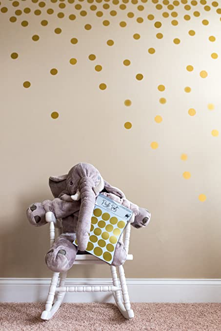 Posh Dots Metallic Gold Circle Wall Decal Stickers for Festive Baby Nursery Kids Room Trendy Cute : gold wall decals - www.pureclipart.com