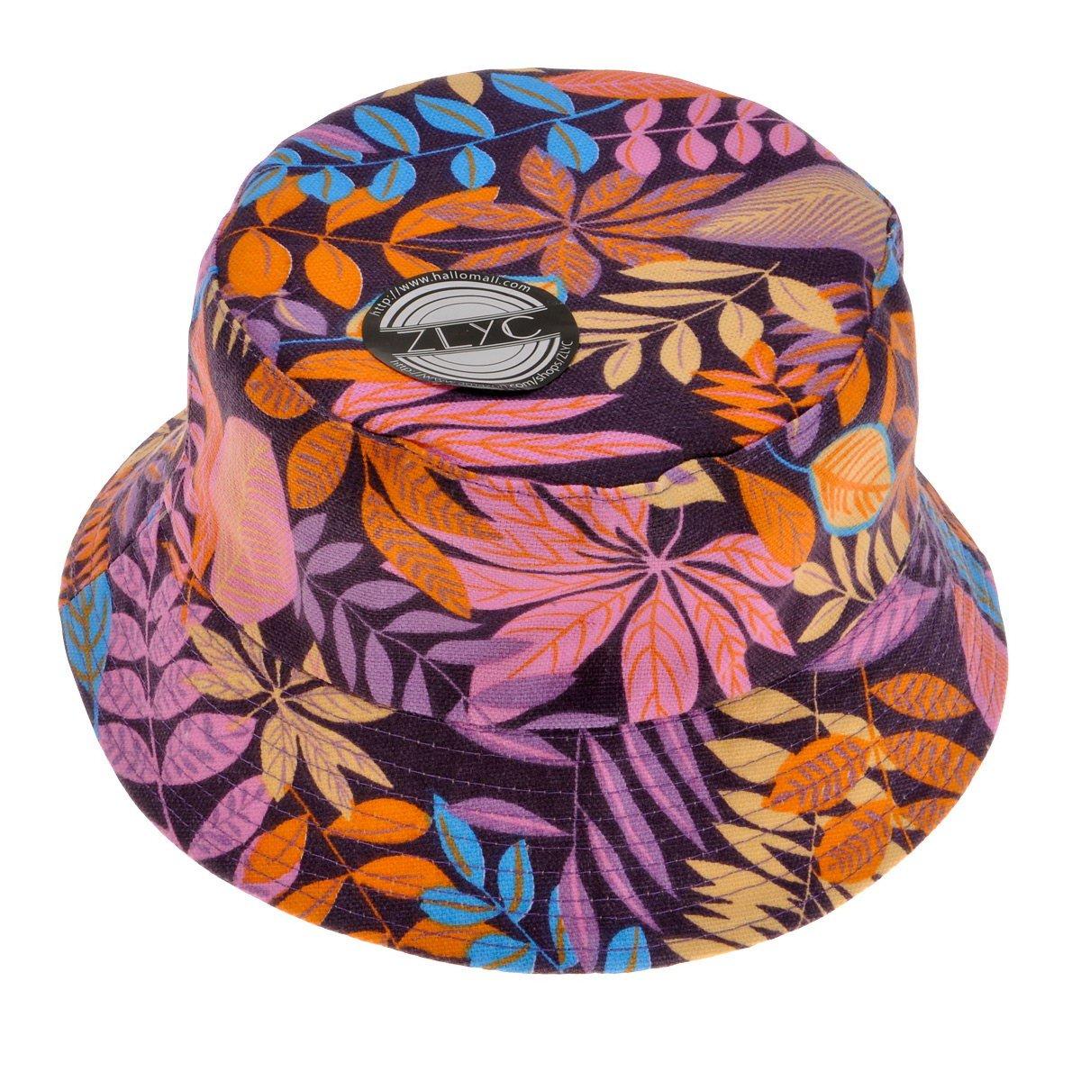 ZLYC Fashion Bucket Hat Summer Fisherman Cap for Women Men Teens ZYJ-MZ-092-RD